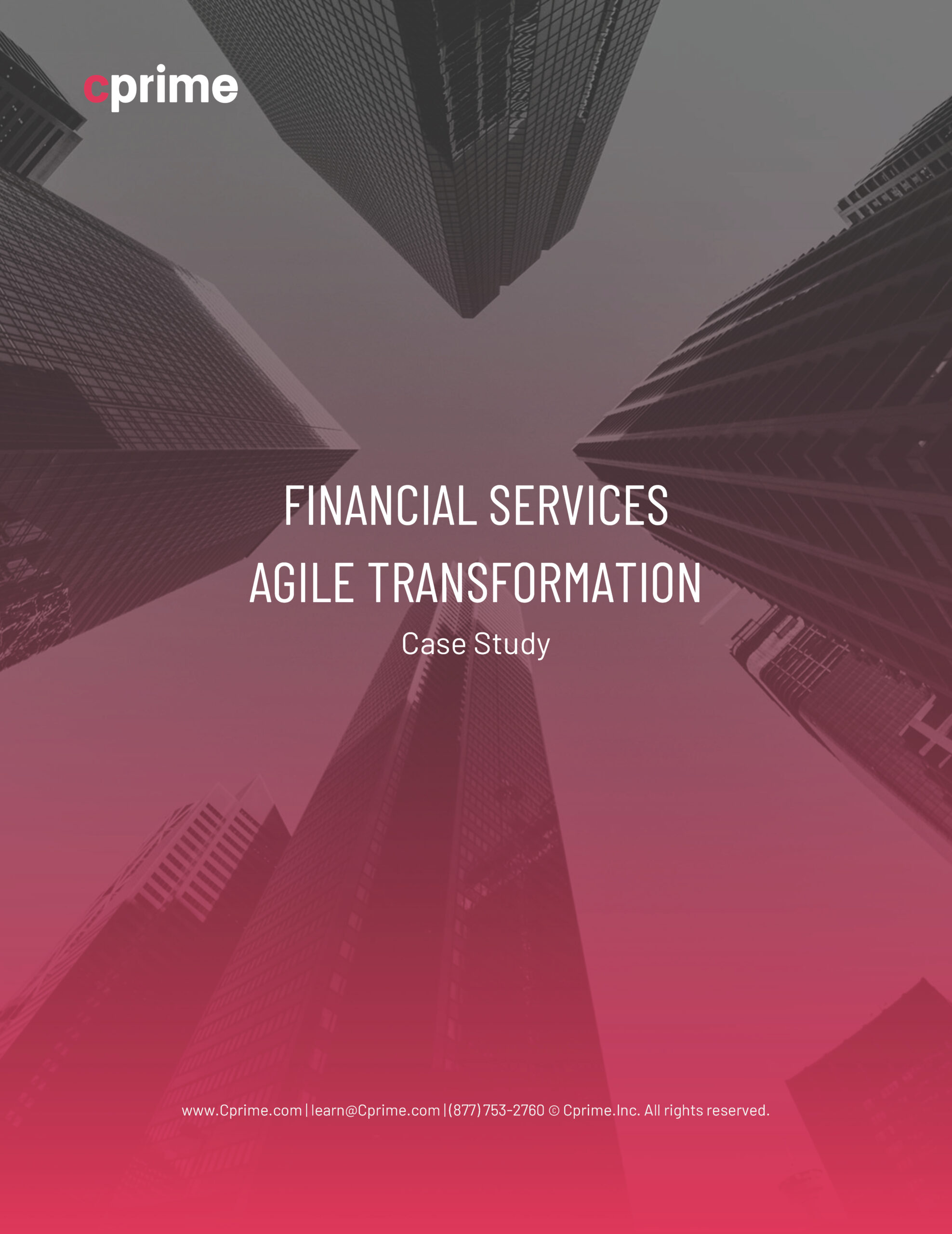 Case Study: Financial Services Company Agile Transformation