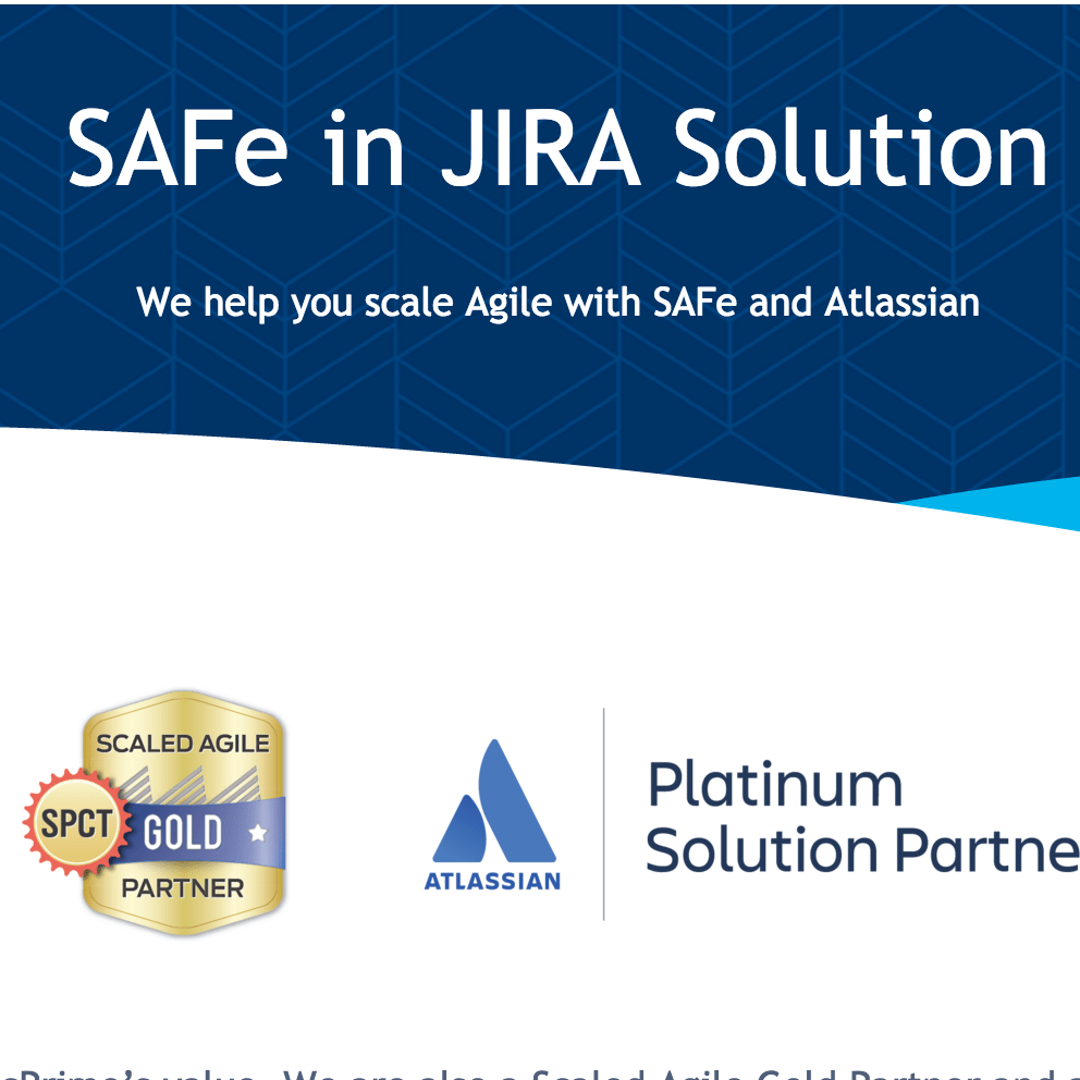 cPrime's Atlassian SAFe 4.5 Jira Solution