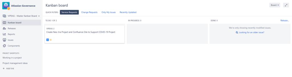 Atlassian Governance Kanban Board