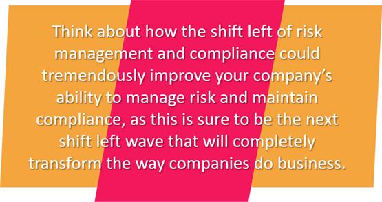 Risk Management and Compliance Shift Left