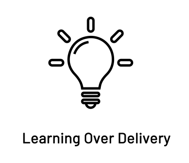 learning over delivery