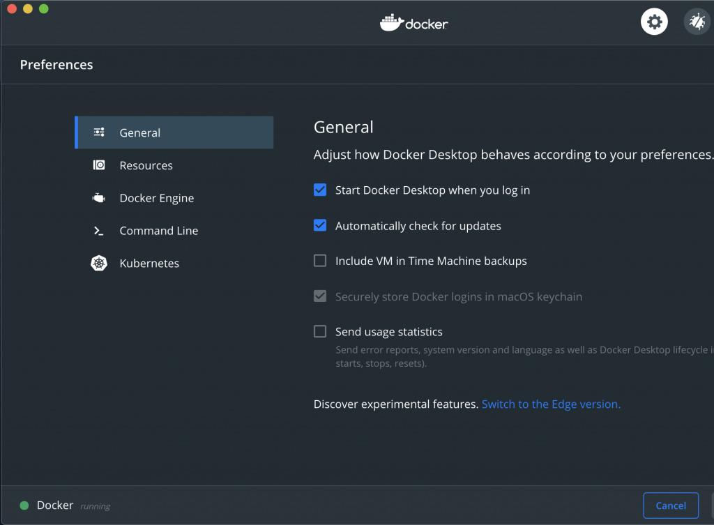 Docker on Mac with Homebrew